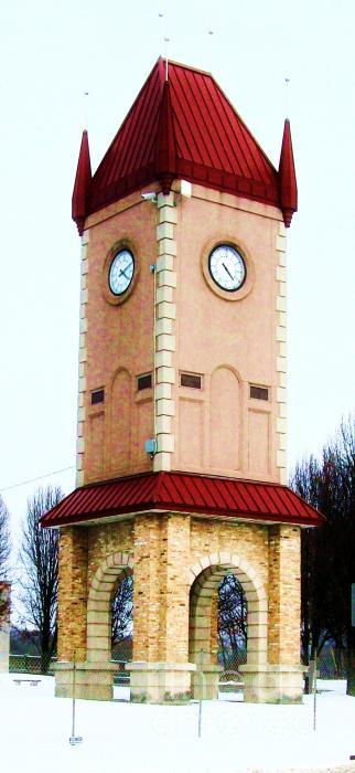 Clock Tower In Czech Village Print by Marsha Heiken
