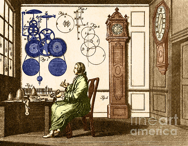 Clockmaker Print by Photo Researchers