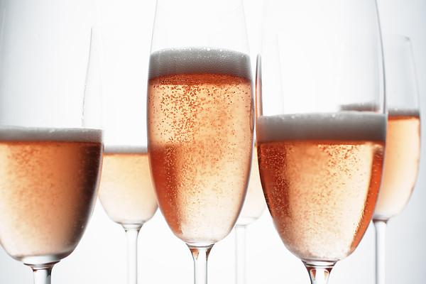 Close Up Of Glasses Of Champagne Print by Brett Stevens