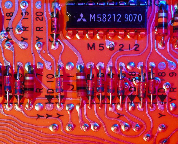 Close-up Of Printed Circuit Board Print by Pasieka