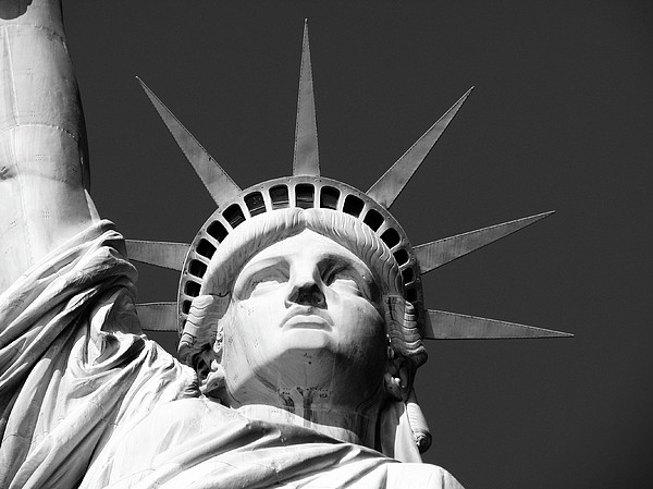 Close Up Of The Head Of The Statue Of Liberty Print by Anna Grove
