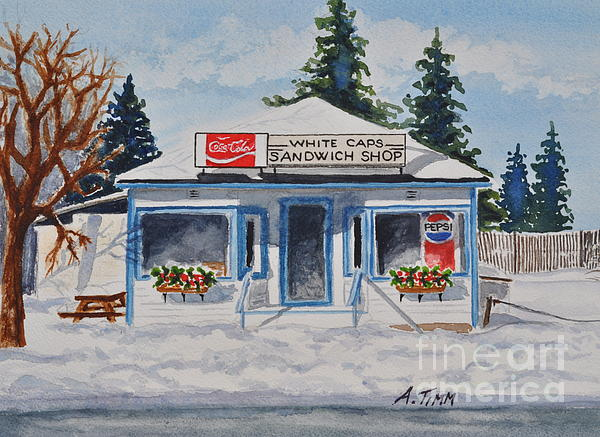 Closed For Season Print by Andrea Timm