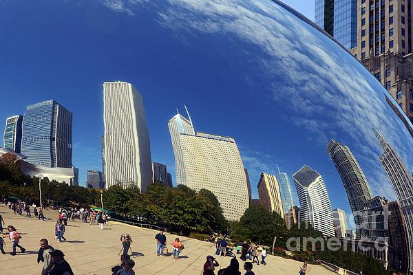 Cloud Gate Millenium Park Chicago Print by Christine Till