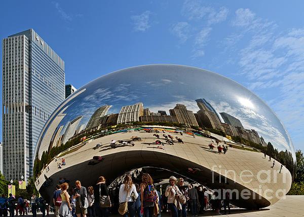 Cloud Gate - The Bean - Millennium Park Chicago Print by Christine Till