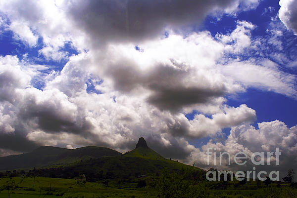 Clouded Hills At Nasik India Print by Sumit Mehndiratta