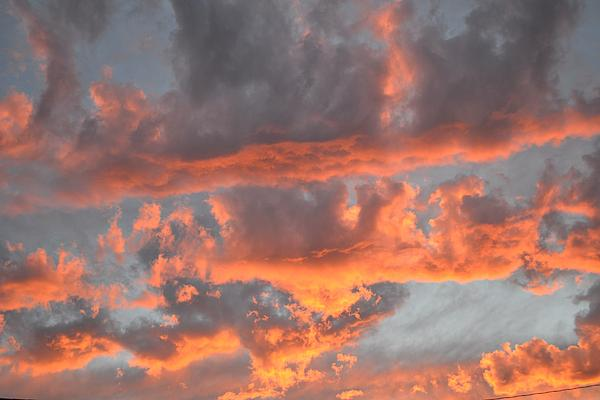 Clouds On Fire Print by Kevin Bone