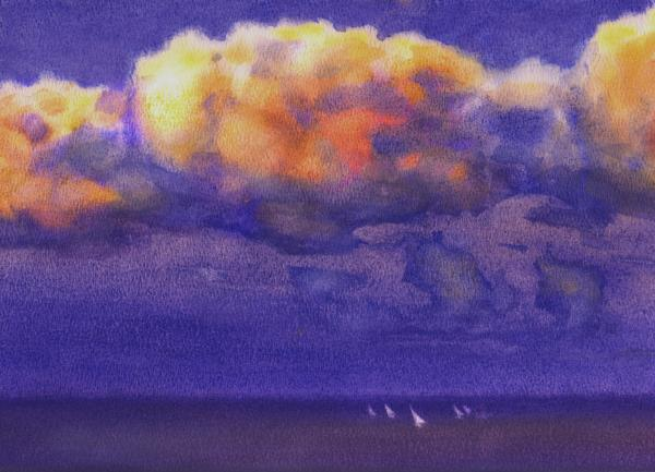 Clouds Painting  - Clouds Fine Art Print