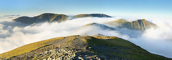 Cloudsurfing Grisedale Pike Print by Stewart Smith