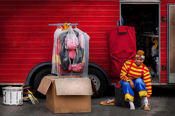 Clown - Wardrobe Change Print by Mike Savad