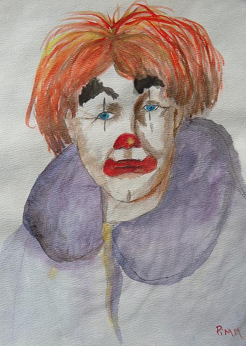 Clown School Print by Betty Pimm