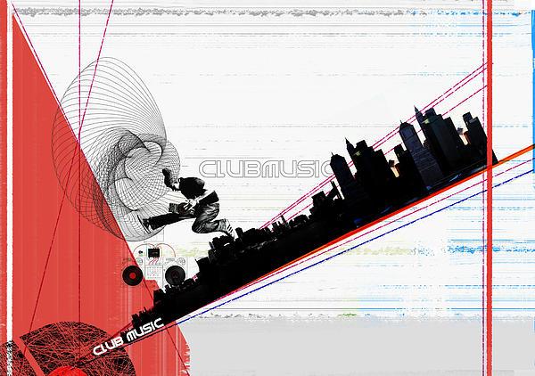 Clubmusic Print by Naxart Studio