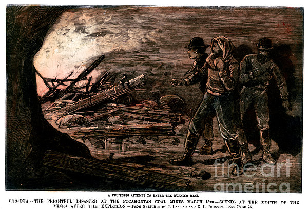 Coal Mine Explosion, 1884 Print by Granger