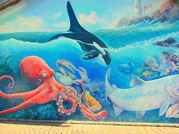 Amy Bradley - Coastal Buildings Painting