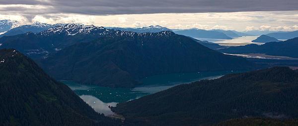 Coastal Range Fjords Print by Mike Reid