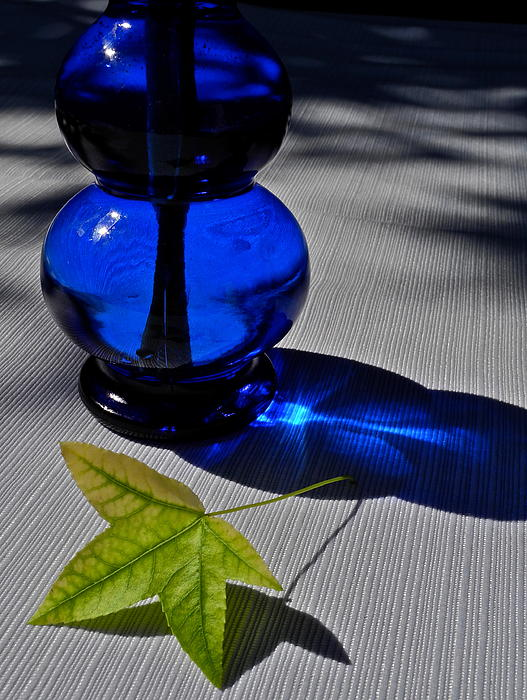 Kirsten Giving - Cobalt Blue Depression Glass Vase