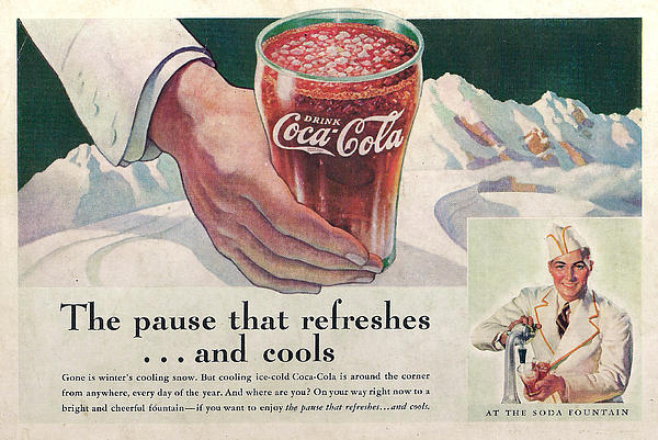 Coca Cola 1937 Print by Nomad Art And  Design