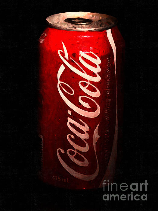 Wingsdomain Art and Photography - Coca Cola Coke Can . Painterly