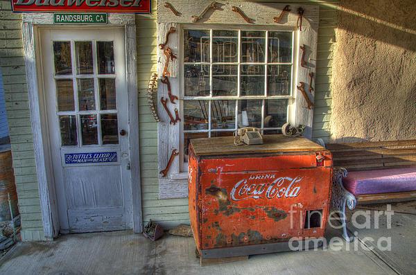 Coca Cola Cooler Randsburg Print by Bob Christopher