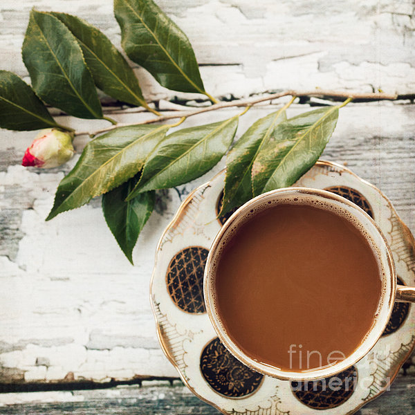 Coffee And Camellia Print by Kim Fearheiley