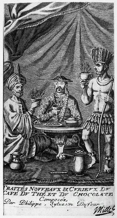 Coffee, Tea & Chocolate, 1685 Print by Granger