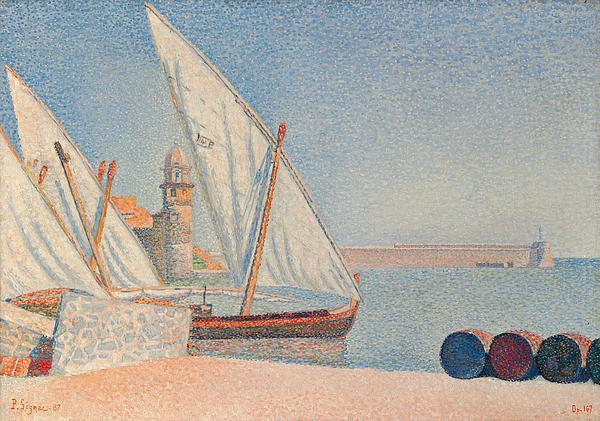 Collioure Les Balancelles Print by Paul Signac