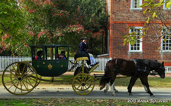 Colonial Williamsburg Carriage Print by Anna Sullivan