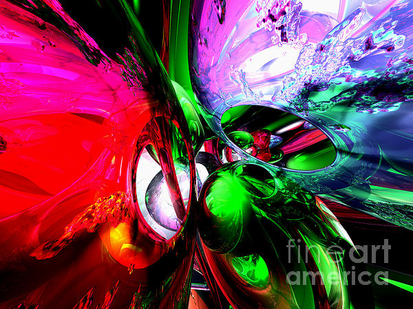 Color Carnival Abstract Print by Alexander Butler
