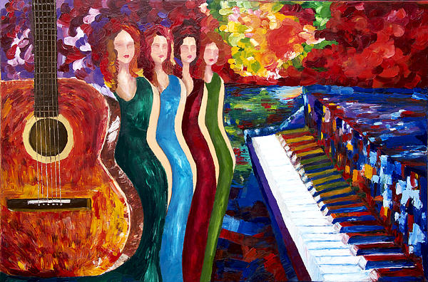 Color Of Music Print by Yelena Rubin