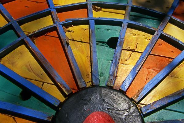 Color Sun Print by Skip Hunt