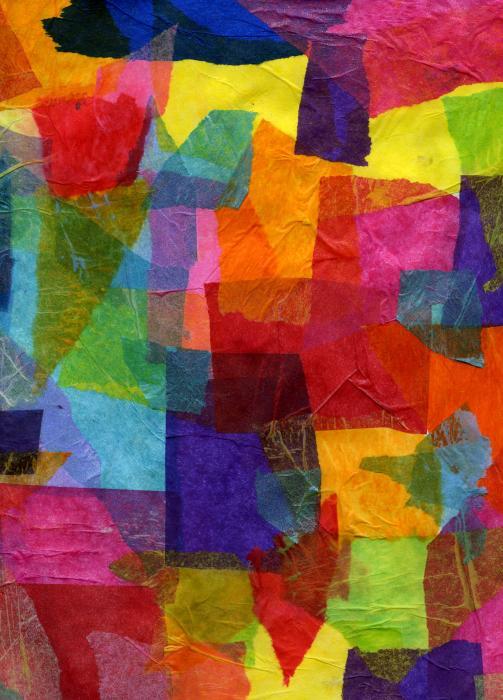 tissue paper collage