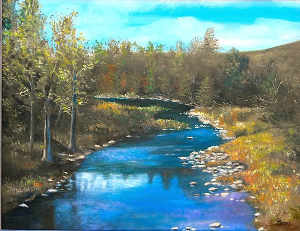 Colorado Mountain Stream Painting