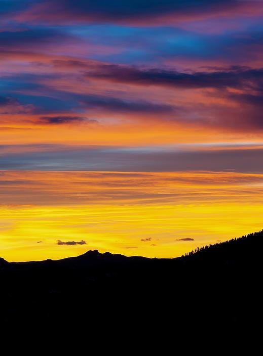 Colorado Sunrise -vertical Print by Bronze Riser