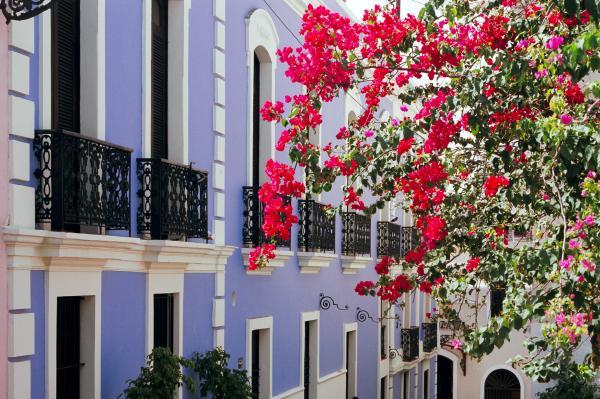 George Oze - Colorful Balconies of Old San Juan Puerto Rico