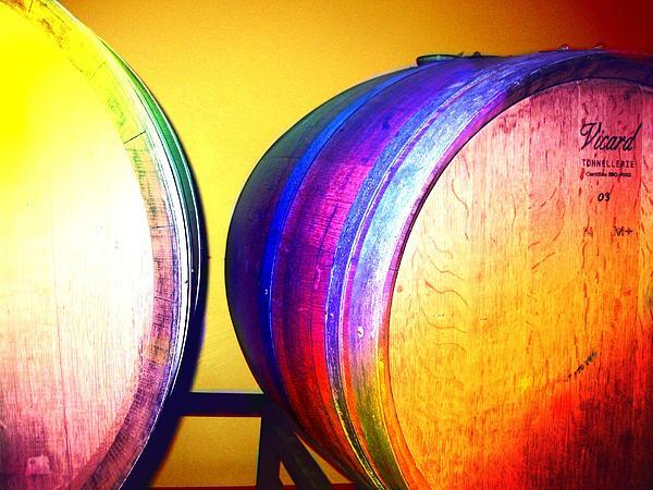 Colorful Barrels Print by Cindy Edwards