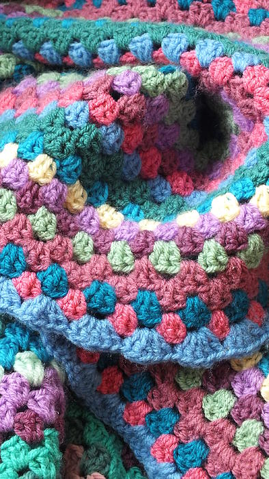 Colorful Crochet Print by Emma Manners