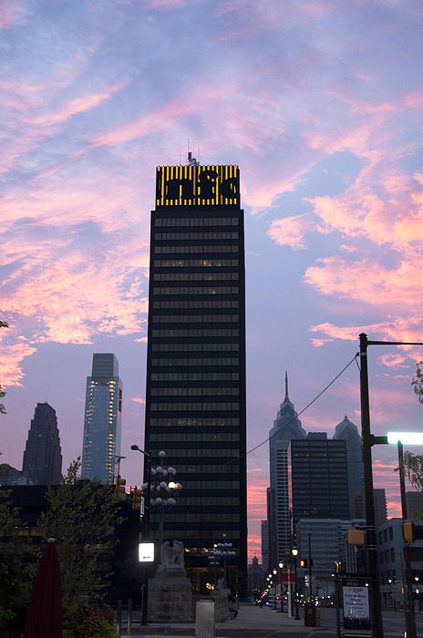 Bill Cannon - Colorful Morning Sky in Philly