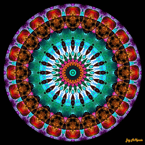 Colorful No. 9 Mandala Print by Joy McKenzie