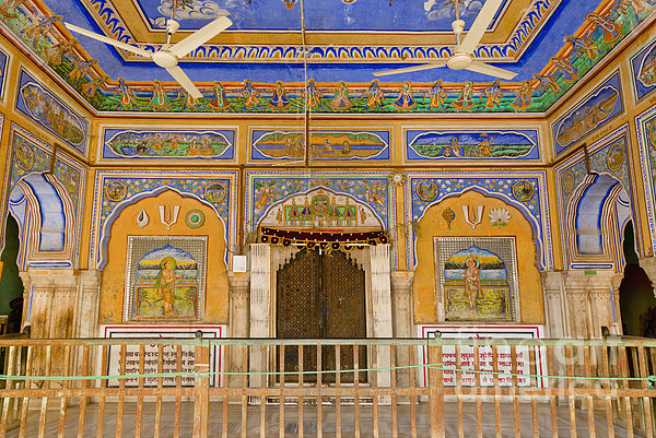 Colorful Palace Interior Print by Inti St. Clair