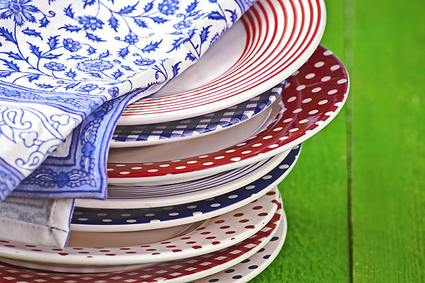 Colorful Plates Print by Joana Kruse