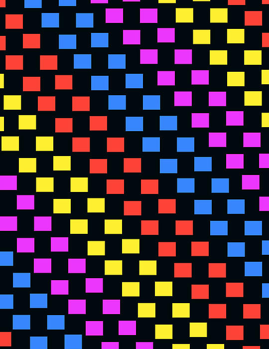 Colorful Squares Print by Louisa Knight