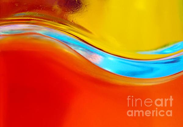 Colorful Wave Print by Carlos Caetano