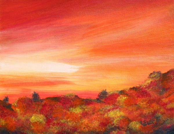 Colours Of Autumn Painting  - Colours Of Autumn Fine Art Print