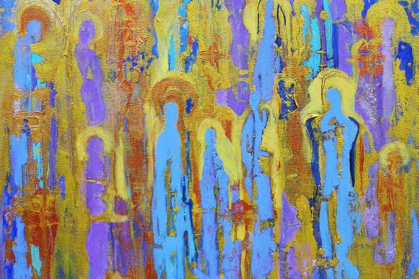 Communion Of Saints Painting