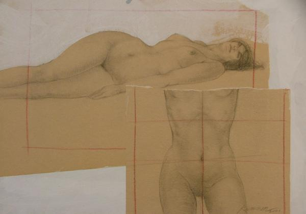 Composite female nude Painting