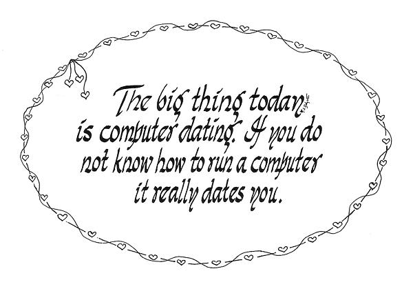 Computer Dating Print by Ruth Bodycott