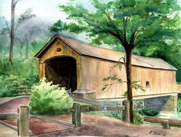Comstock Bridge Print by Katherine  Berlin