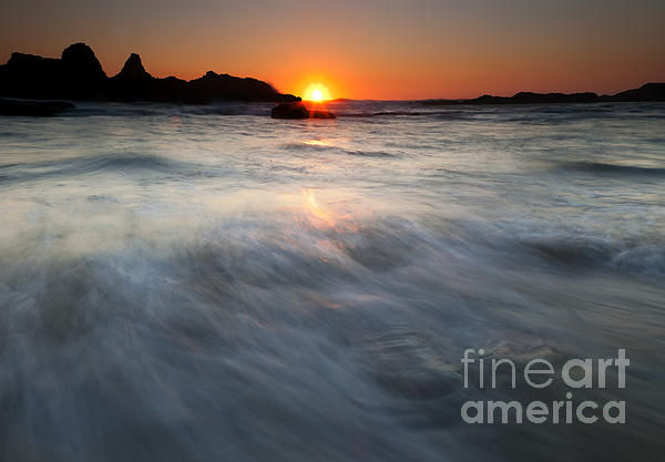 Concealed By The Tides Print by Mike  Dawson