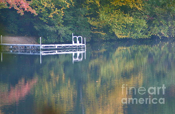 Connecticut Autumn Reflections Print by Cindy Lee Longhini
