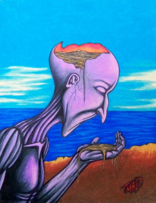 Conscious Thought Drawing by Michael TMAD Finney - Conscious ...