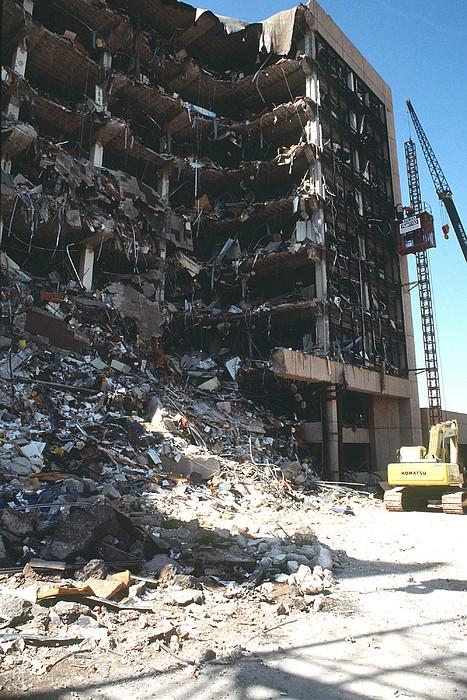 Construction Workers Erect An External Print by Everett